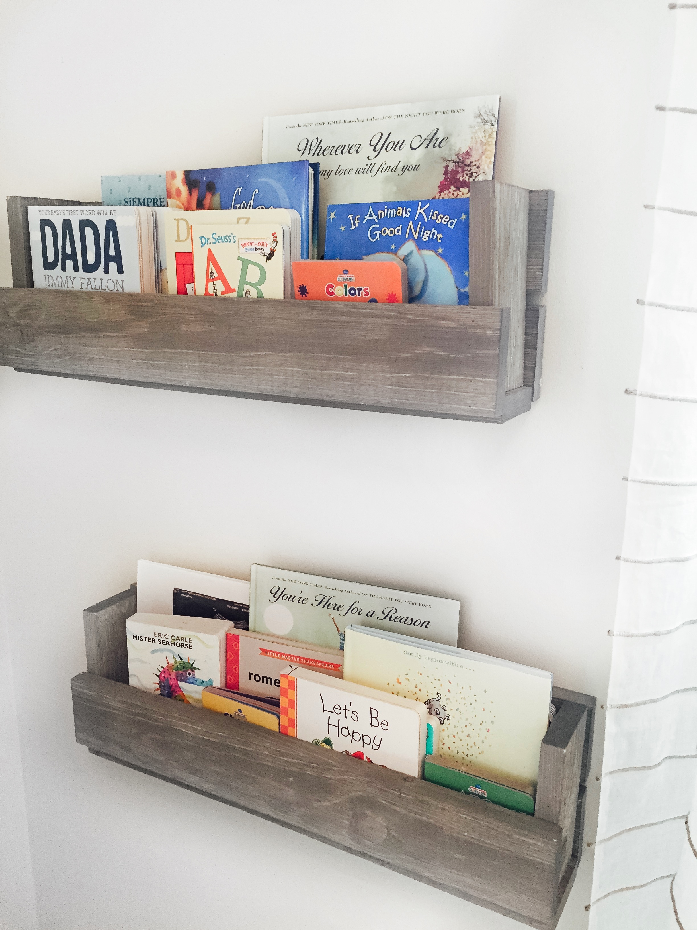 DIY Nursery Book Shelves