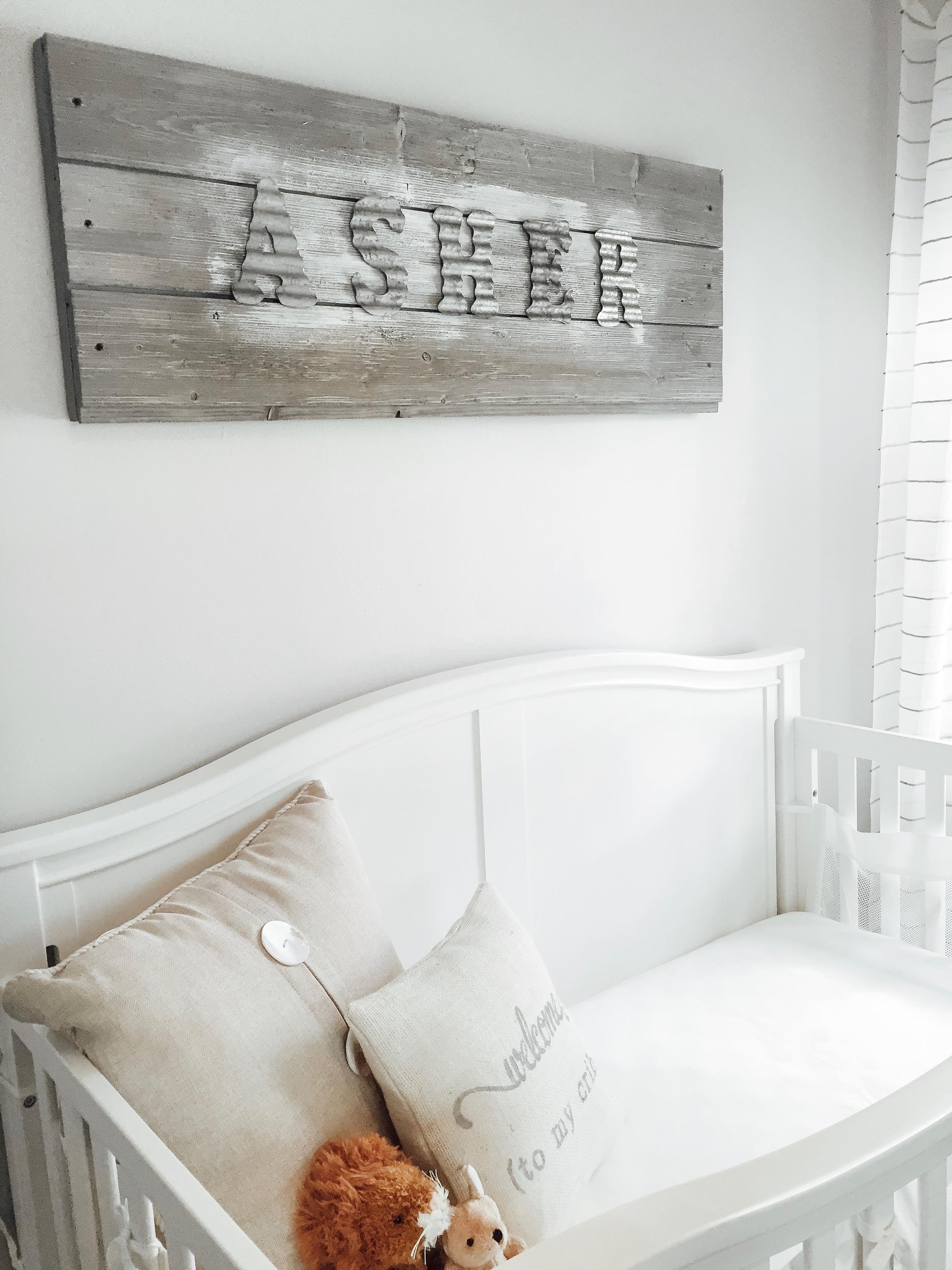 White Crib in Nursery