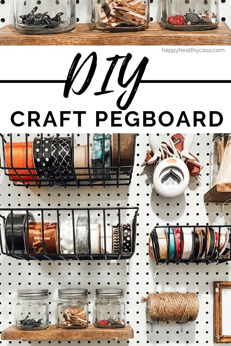 DIY Craft Pegboard Organizational Ideas