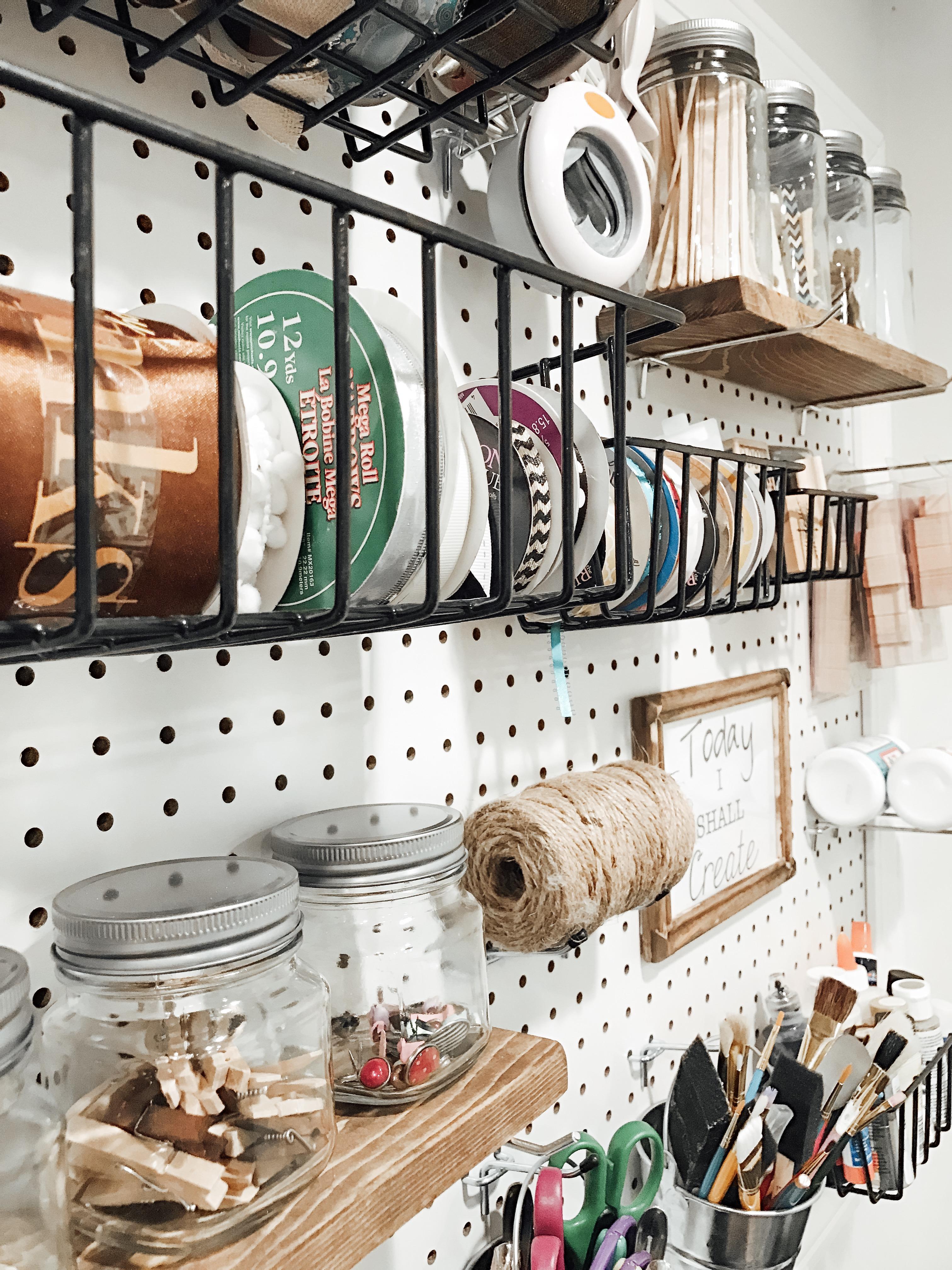 DIY Craft Pegboard Organization