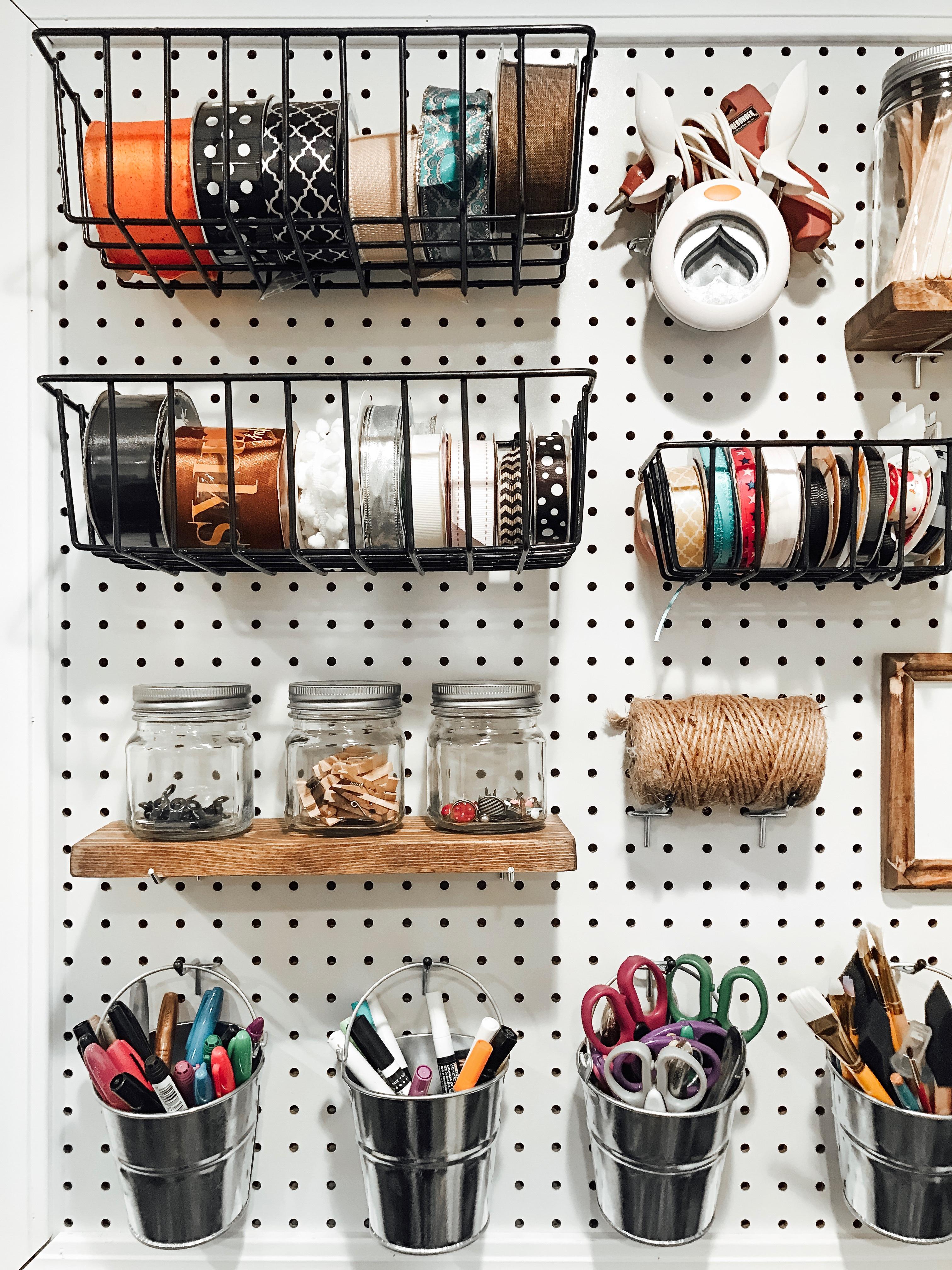 DIY Craft Pegboard Tutorial