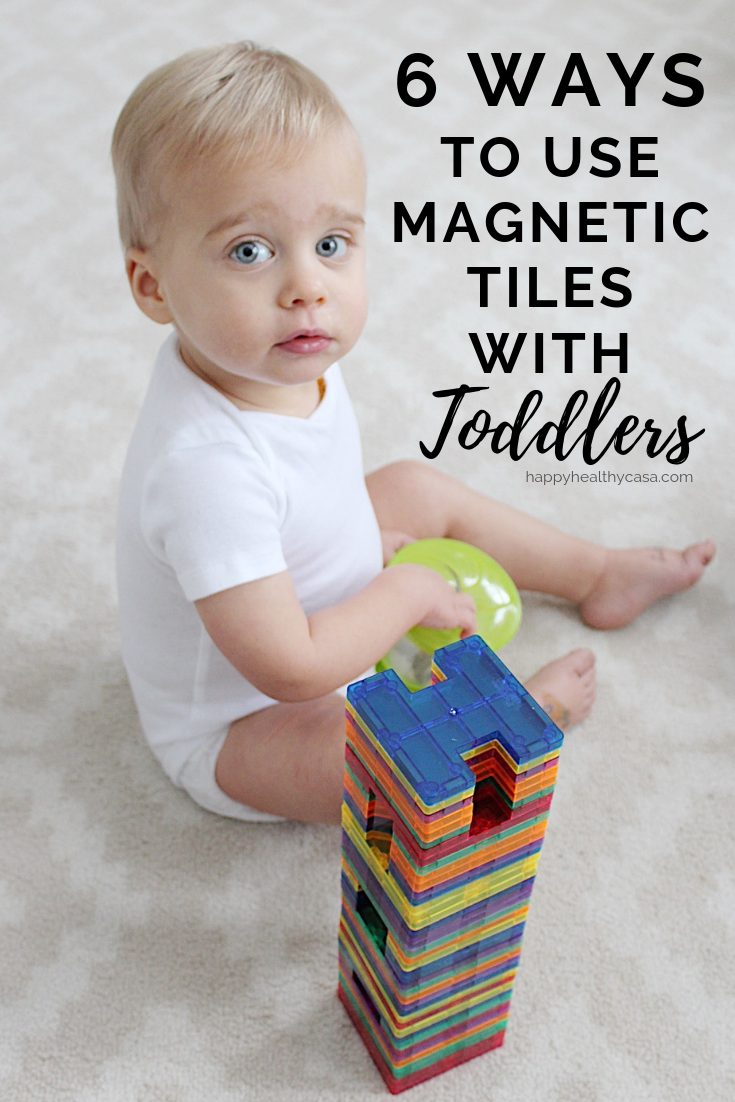 6 Ways to Use Magnetic Tiles with Toddlers