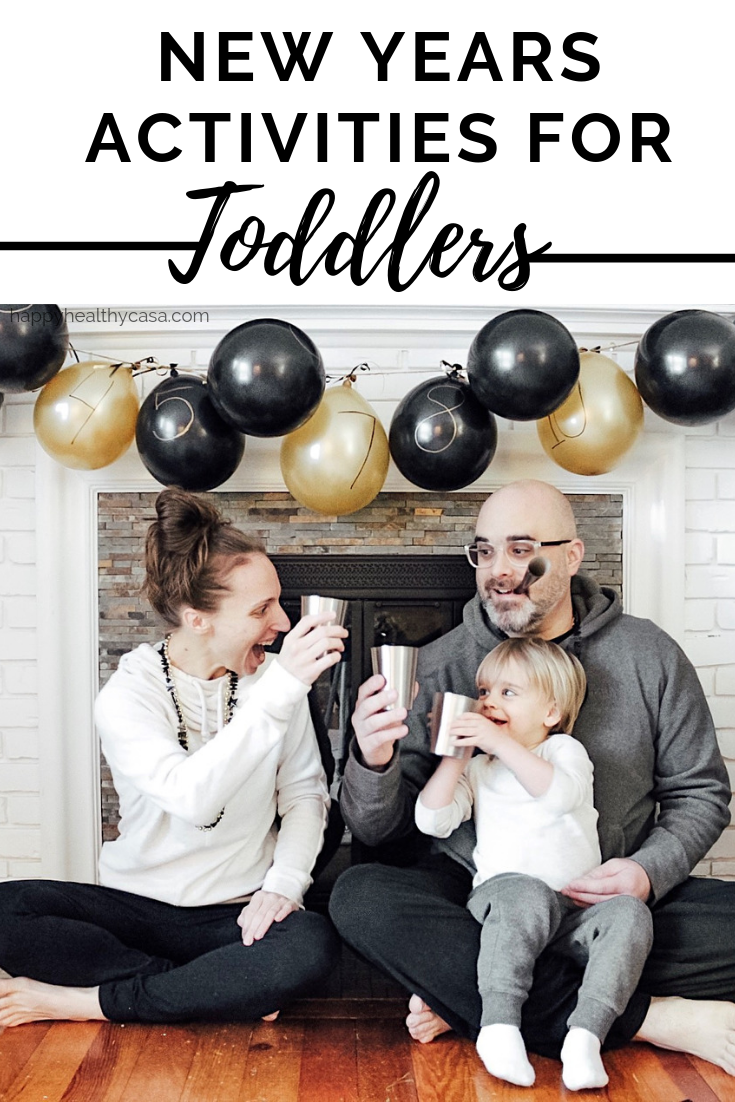 A whole day's worth of New Years activities for toddlers and kids!
