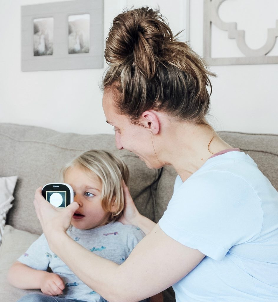 At-home medical exam with kids