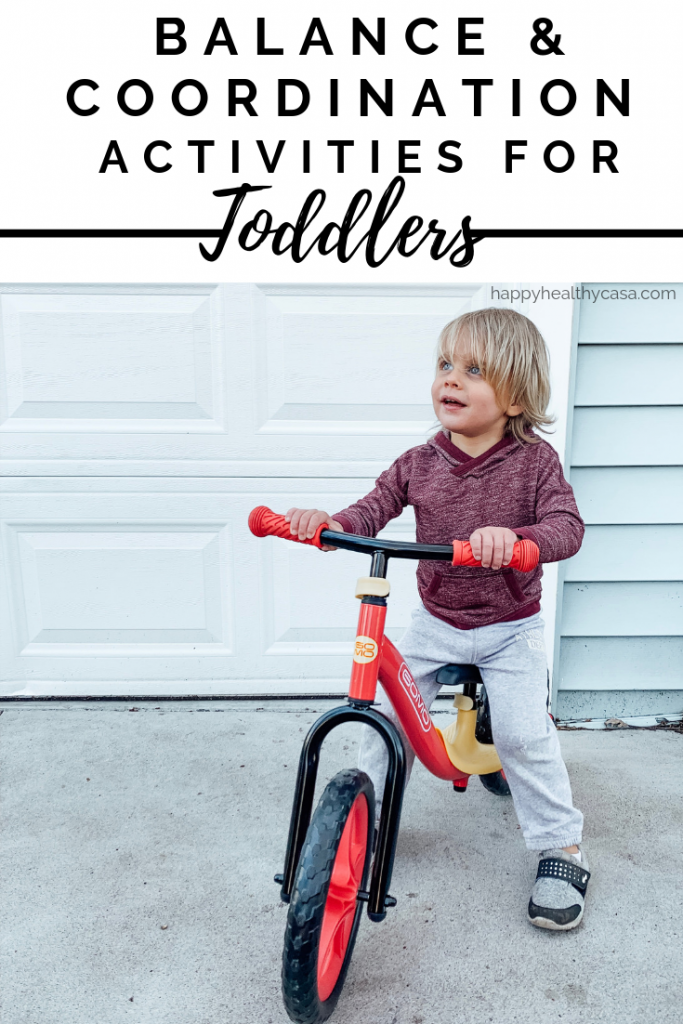 A list of 10 Outdoor Activities to promote balance and coordination for toddlers and preschoolers