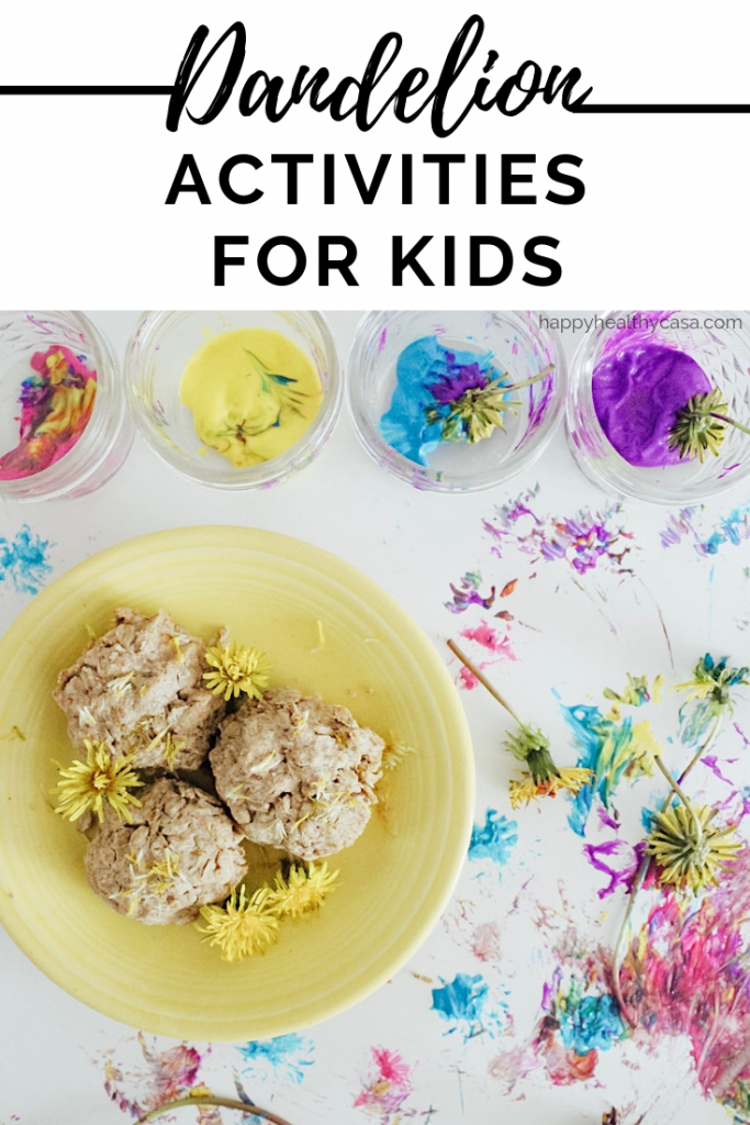 9 Creative Ways to use all of those Dandelions with your kids this summer!