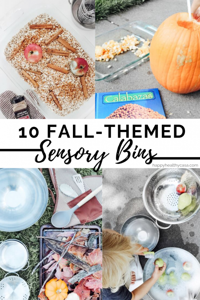 Fall Themed Sensory Bin Ideas