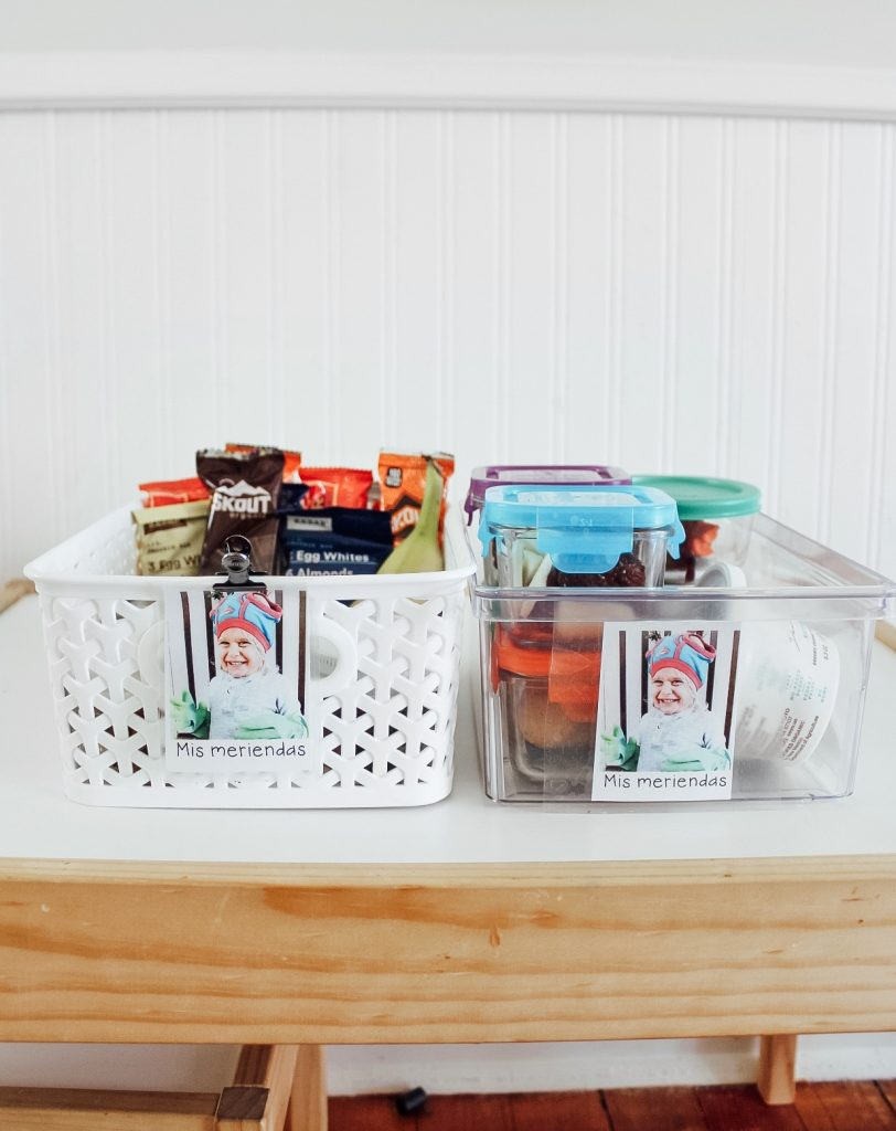 Kids Snack Ideas and Organization