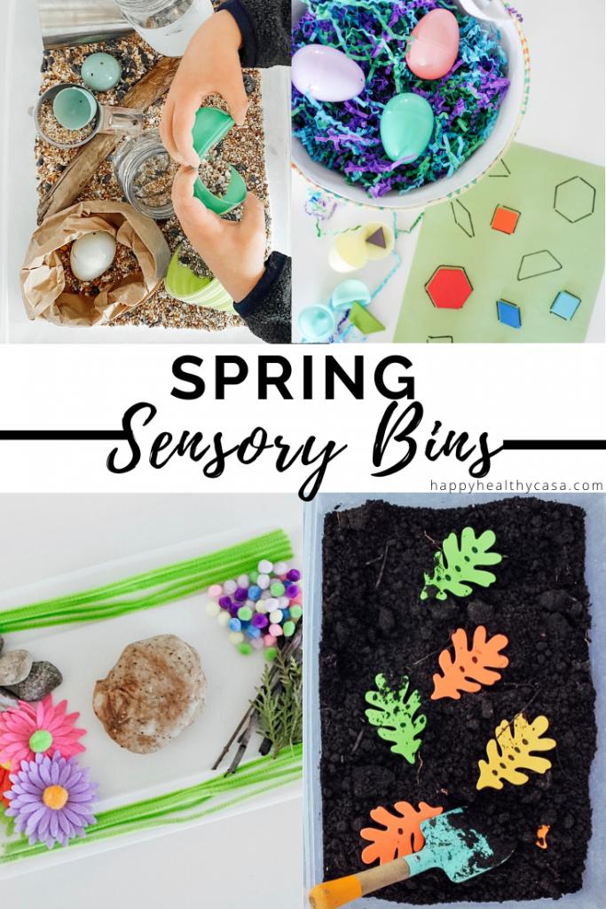 Spring Sensory Bin Ideas